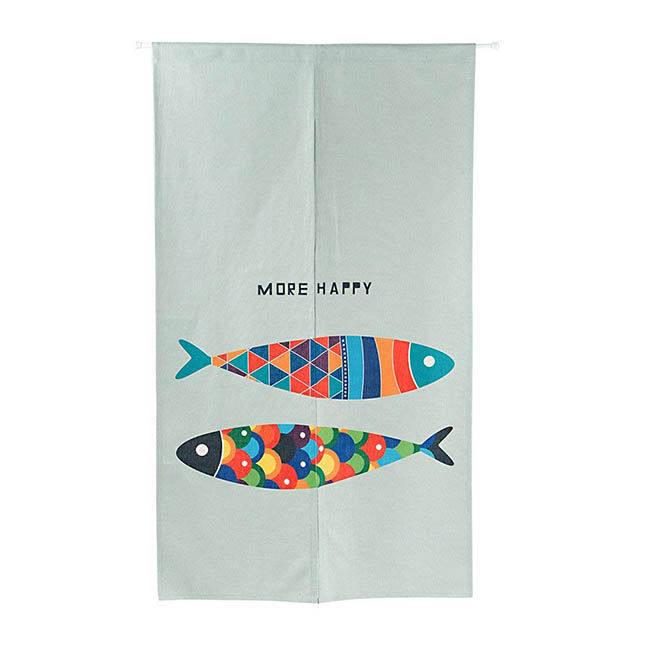高品質のれん 魚