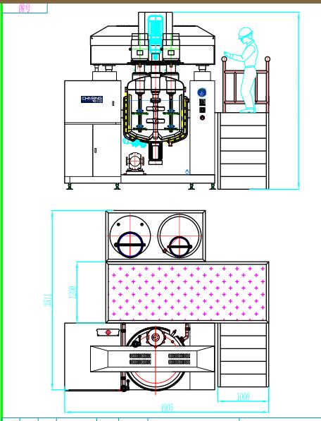 牙膏设备,黏膏生产设备,眼膏生产设备,药膏生产设备,膏体生产设备流程图